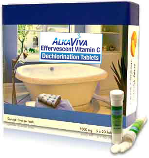 AlkaViva dechlorination bath tablets