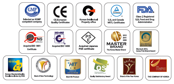 water ionizer certifications